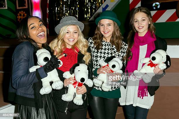 R Actresses China Anne McClain Olivia Holt Bailee Madison and Kelli Berglund attend the Knott's Merry Farm Holiday Reading and Tree Lighting at...