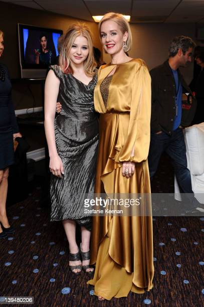 Actresses Chloe Grace Moretz and Penelope Ann Miller attend the 14th Annual Costume Designers Guild Awards With Presenting Sponsor Lacoste held at...