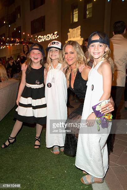 Actresses Chloe Guidry Allison Gobuzzi Brittany Daniel and Lauren Gobuzzi attend the world premiere of Crackles Joe Dirt 2 Beautiful Loser at Sony...