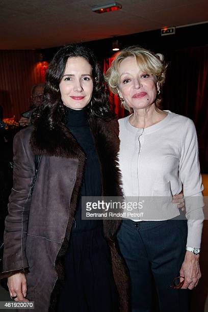 Actresses Chloe Lambert and Caroline Silhol attend 'La Maison d'a cote' Theater Play at Theatre du Petit Saint Martin on January 21 2015 in Paris...