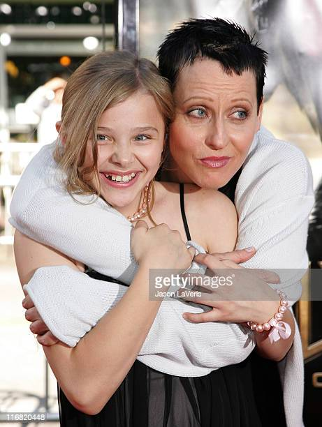 Actresses Chloe Moretz and and Lori Petty attend the premiere of Universal's Hellboy II The Golden Army at Mann Village Theater on June 28 2008 in...