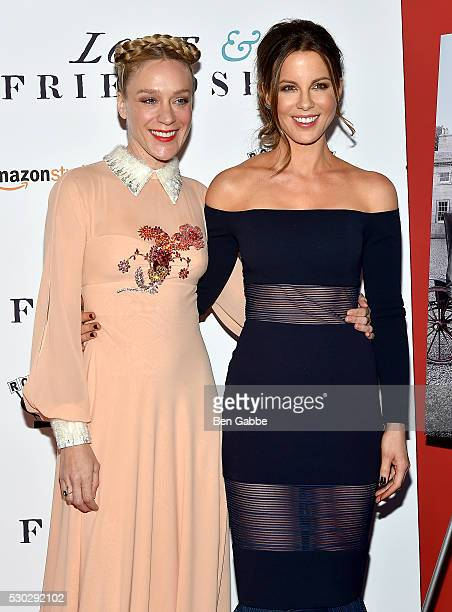 Actresses Chloe Sevigny and Kate Beckinsale attend the Love Friendship New York Screening at Landmark Sunshine Cinema on May 10 2016 in New York City