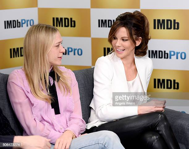 Actresses Chloe Sevigny and Kate Beckinsale in The IMDb Studio In Park City Utah Day Two on January 23 2016 in Park City Utah
