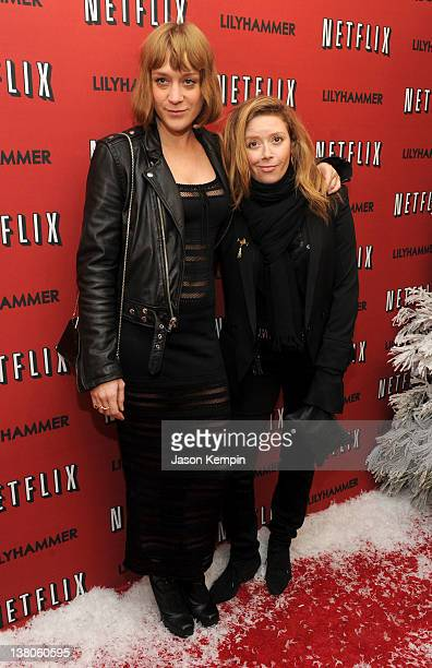 Actresses Chloe Sevigny and Natasha Lyonne attend the North American Premiere Of 'Lilyhammer' a Netflix Original Series at Crosby Street Hotel on...