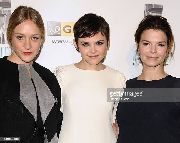 Actresses Chloe Sevigny Ginnifer Goodwin and Jeanne Tripplehorn attend the 6th annual GLSEN Respect Awards at Beverly Hills Hotel on October 8 2010...