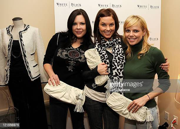 Actresses Christa Campbell Donnamarie Recco and Mircea Monroe visit the Hollywood Life House Suite on January 18 2009 in Park City Utah