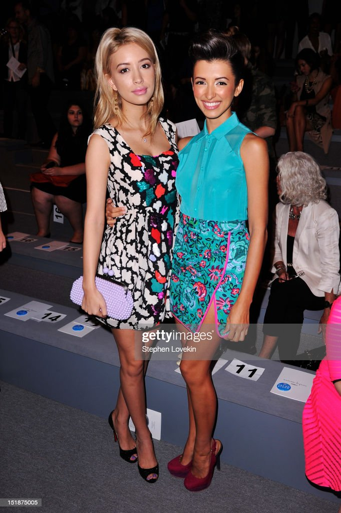 Actresses Christian Serratos and India de Beaufort attend the Nanette Lepore Spring 2013 fashion show during Mercedes-Benz Fashion Week at The Stage Lincoln Center on September 12, 2012 in New York City.