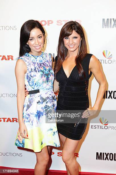 Actresses Christian Serratos and Rachele Brooke Smith attends the premiere of 'Pop Star' at Mixology101 Planet Dailies on June 27 2013 in Los Angeles...
