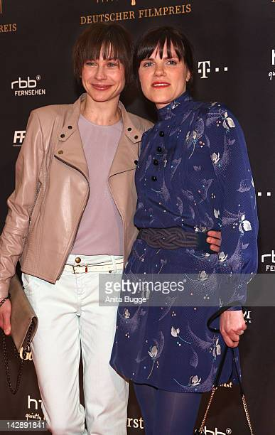Actresses Christiane Paul and Fritzi Haberlandt attend the nominees reception of the Deutscher Filmpreis award on April 14 2012 in Berlin Germany