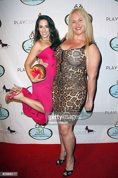 Actresses Christina DeRosa and Robin Coleman arrive at the Play Couture Celebrates Red Carpet Grand Opening on September 4 2008 in Los Angeles...