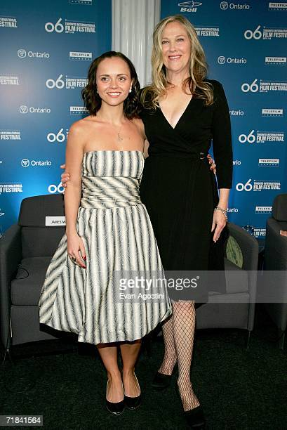 Actresses Christina Ricci and Catherine O'Hara attend the 'Penelope' press conference during the Toronto International Film Festival held at the...