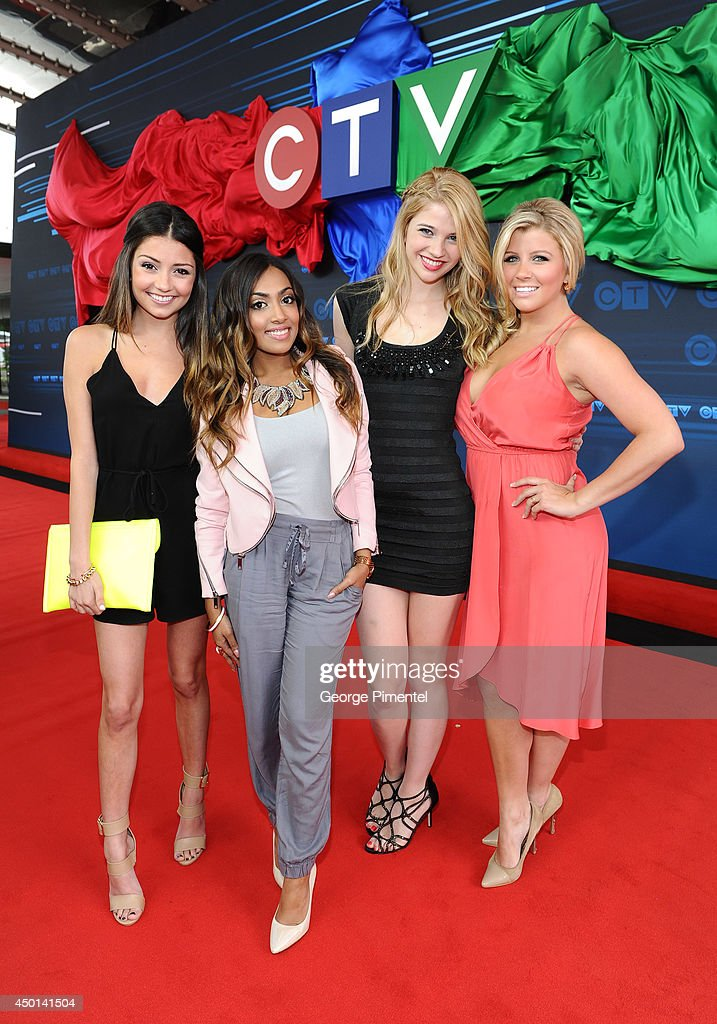Ê (L-R) Actresses Christine Prosperi, Melinda Shankar, Sarah Fisher and Jessica Tyler of Degrassi attends the CTV 2014 Upfront at Sony Centre for the Performing Arts on June 5, 2014 in Toronto, Canada.Ê