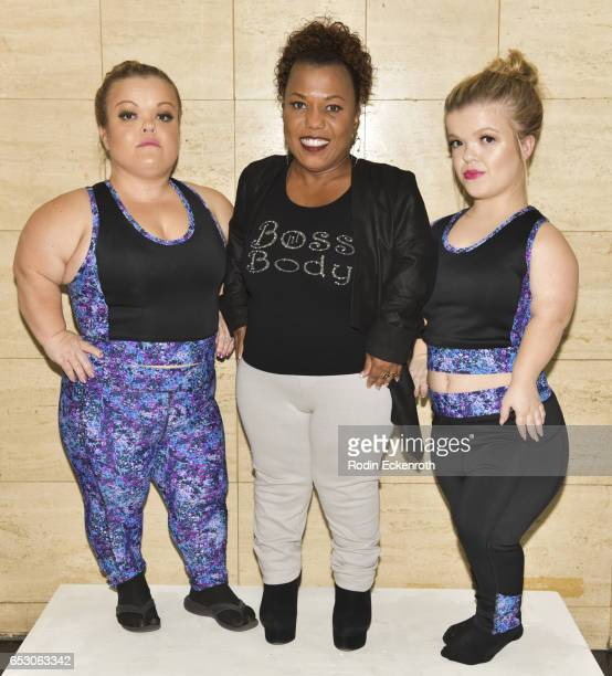 "Actresses Christy Gibel, designer Tonya Renee Banks, and Autumn Gibel pose for portrait at Tonya Renee Banks' debut of ""Lil Boss Body"" clothing line..."