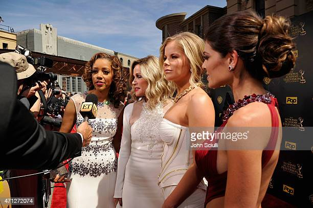 Actresses Chrystee Pharris Donna Mills Crystal Hunt and Lindsay Hartley attend The 42nd Annual Daytime Emmy Awards at Warner Bros Studios on April 26...