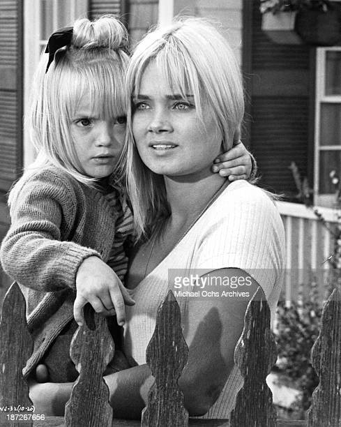 Actresses Cindy Putnam and Andrea Dromm on set of the movie The Russians Are Coming the Russians Are Coming in 1966