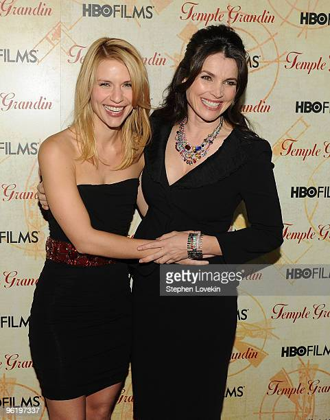 Actresses Claire Danes and Julia Ormond attend the premiere of Temple Grandin at the Time Warner Screening Room on January 26 2010 in New York City