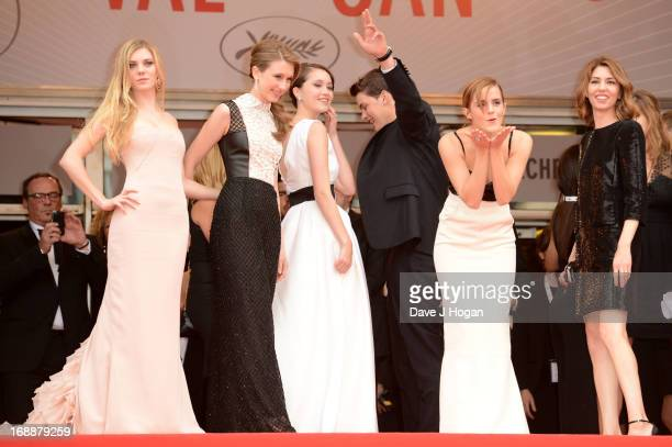 Actresses Claire Julien Taissa Farmiga and Katie Chang actor Israel Broussard actress Emma Watson and director Sofia Coppola attends 'The Bling Ring'...
