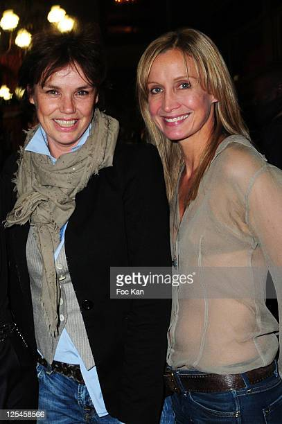 Actresses Claire Nebout and Catherine Marchal attend the Nathalie Garcon Pop up Store Launch Party at Gallery Vivienne on September 27 2010 in Paris...