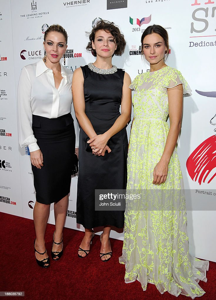 Actresses Claudia Gerini, Jasmine Trinca and Kasia Smutniak attend Cinema Italian Style 2013 'The Great Beauty' opening night premiere at the Egyptian Theatre on November 14, 2013 in Hollywood, California.