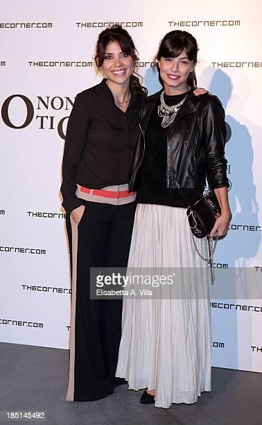 Actresses Claudia Potenza and Alessandra Mastronardi attend 'Io Non Ti Conosco' photocall at Maxxi Museum on October 17 2013 in Rome Italy
