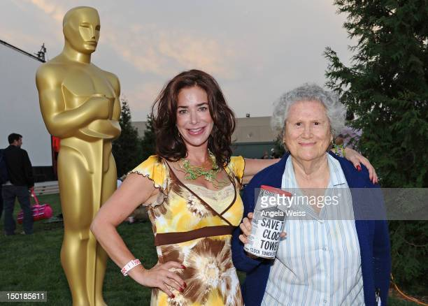 Actresses Claudia Wells and Elsa Raven attend The Academy of Motion Picture Arts and Sciences' Oscars outdoors screening of 'Back To The Future' on...