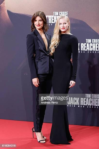 Actresses Cobi Smulders and Danika Yarosh attend the 'Jack Reacher Never Go Back' Berlin Premiere at CineStar Sony Center Potsdamer Platz on October...