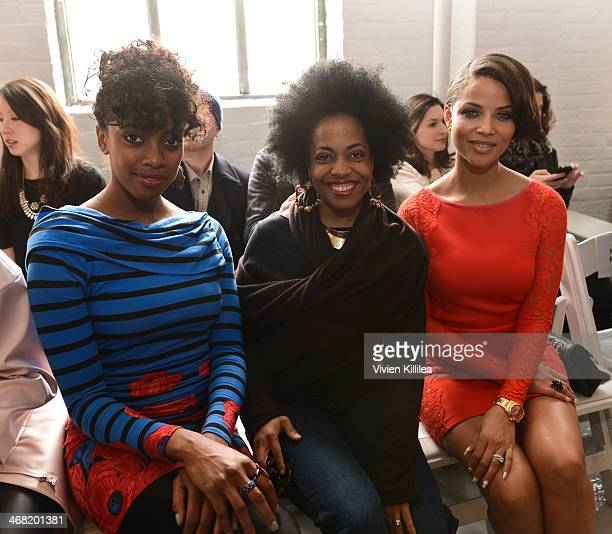 Actresses Condola Rashad Rhonda Ross and Denise Vasi attend the Tracy Reese show during MercedesBenz Fashion Week Fall 2014 at Center 548 on February...