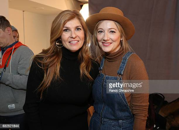 Actresses Connie Britton and Judy Greer attend ATT At The Lift during the 2017 Sundance Film Festival on January 23 2017 in Park City Utah