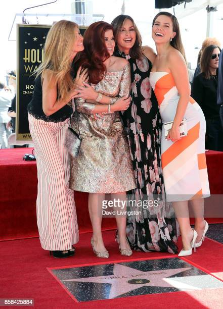 Actresses Connie Britton Debra Messing Mariska Hargitay and Sophia Bush attend Debra Messing being honored with a Star on the Hollywood Walk of Fame...
