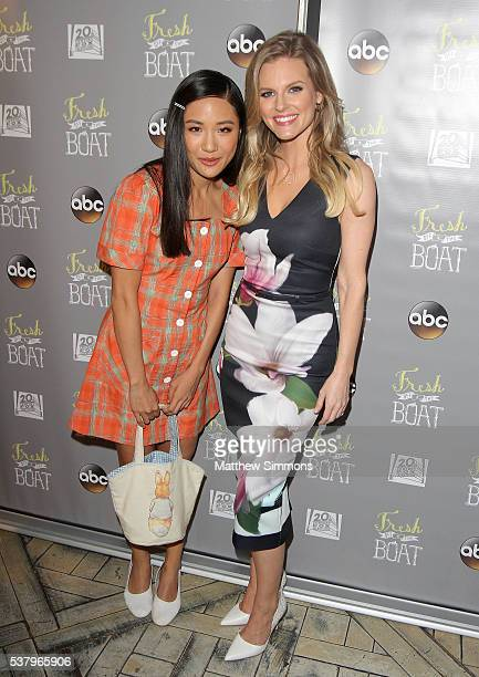 Actresses Constance Wu and Chelsey Crisp attend the Emmy FYC event for ABC's 'Fresh Off The Boat' at The London Hotel on June 3 2016 in West...