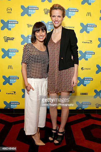 """Actresses Constance Zimmer and Brooklyn Decker attend the premiere of """"Results"""" during the 2015 SXSW Music, Film + Interactive Festival at Alamo..."""