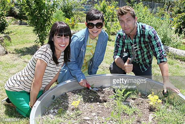 Actresses Constance Zimmer and Ginnifer Goodwin and recording artist Lance Bass attend the Environmental Media Association's 3rd Annual Garden...