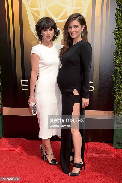 Actresses Constance Zimmer and Shiri Appleby attend the 2015 Creative Arts Emmy Awards at Microsoft Theater on September 12 2015 in Los Angeles...