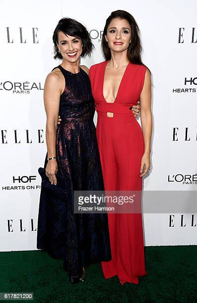Actresses Constance Zimmer and Shiri Appleby attend the 23rd Annual ELLE Women In Hollywood Awards at Four Seasons Hotel Los Angeles at Beverly Hills...
