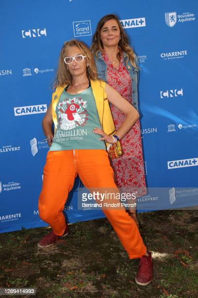 """Actresses Corinne Masiero and Blanche Gardin attend the """"Effacer L'Historique"""" Photocall at 13th Angouleme French-Speaking Film Festival on August..."""