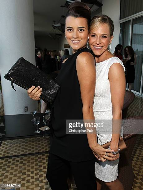 Actresses Cote de Pablo and Julie Benz during the 2011 Women In Film Crystal Lucy Awards with presenting sponsor PANDORA jewelry at the Beverly...
