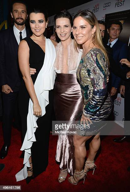 Actresses Cote de Pablo Juliette Binoche and Kate del Castillo attend the Centerpiece Gala Premiere of Alcon Entertainment's The 33 during AFI FEST...