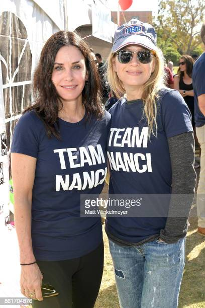 Actresses Courteney Cox and Renee Zellweger attend the Nanci Ryder's 'Team Nanci' participates in the 15th Annual LA County Walk to Defeat ALS at...