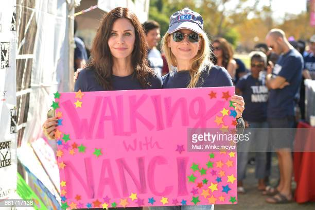 Actresses Courteney Cox and Renee Zellweger attend the Nanci Ryder's Team Nanci participates in the 15th Annual LA County Walk to Defeat ALS at...