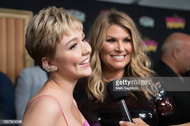 Actresses Cozi Zuehlsdorff and Heidi Blickenstaff attend the Freaky Friday New York Premiere at The Beacon Theatre on July 30 2018 in New York City