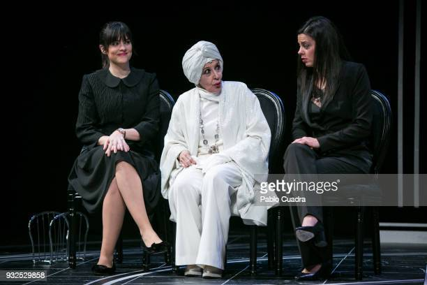 Actresses Cristina Abad Concha Velasco and Clara Alvarado perform on stage during the 'El Funeral' at 'Teatro Calderon' on March 15 2018 in...