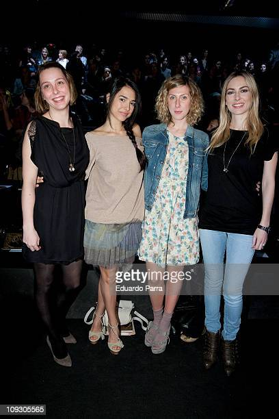 Actresses Cristina Brondo Cecilia Freire and Kira Miro attend the Aianto fashion show during the Cibeles Madrid Fashion Week A/W 2011 at Ifema on...