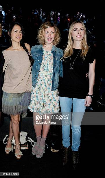 Actresses Cristina Brondo Cecilia Freire and Kira Miro attends the Aianto fashion show during the Cibeles Madrid Fashion Week A/W 2011 at Ifema on...