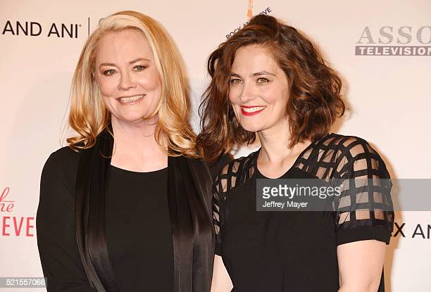 Actresses Cybill Shepherd and Clementine Ford attend the 23rd Annual Race To Erase MS Gala at The Beverly Hilton Hotel on April 15 2016 in Beverly...