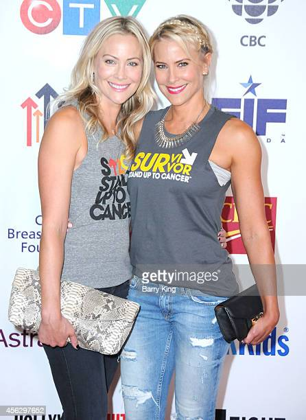 Actresses Cynthia Daniel and Brittany Daniel arrive at Hollywood Unites For The 4th Biennial Stand Up To Cancer A Program Of The Entertainment...