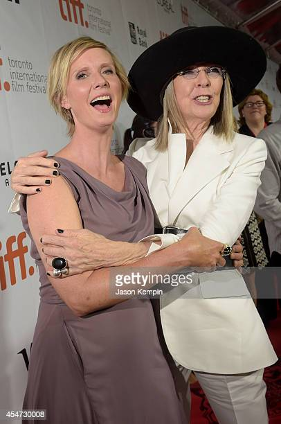 Actresses Cynthia Nixon and Diane Keaton attend the Ruth Alex premiere during the 2014 Toronto International Film Festival at Roy Thomson Hall on...