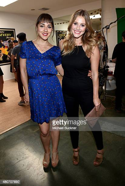 Actresses Cyrina Fiallo and Julianna Guill attend a celebration with STRIIIKE and Caudalie for 'The French Beauty Solution' on Bastille Day at...