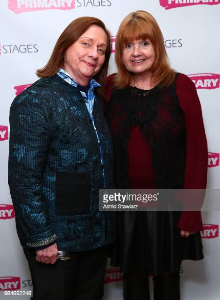 Actresses Dale Soules and Annie Golden attend 'Daniel's Husband' opening night party at Sushi Samba on April 4 2017 in New York City