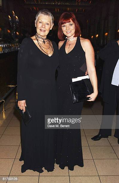 Actresses Dame Judi Dench and daughter Finty Williams attend the aftershow party following the Cinema and Television Benevolent Fund Royal Film...