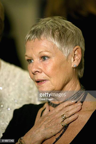 """Actresses Dame Judi Dench arrives at the Cinema and Television Benevolent Fund Royal Film Performance annual charity screening, this year of """"Ladies..."""